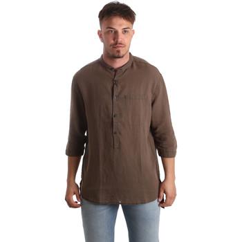 Oblačila Moški Srajce z dolgimi rokavi Antony Morato MMSL00531 FA400051 Rjav