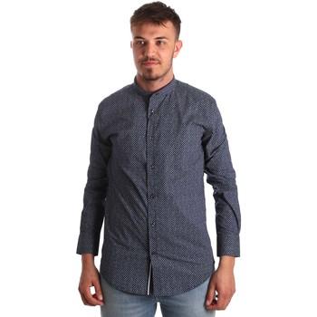 Oblačila Moški Srajce z dolgimi rokavi Antony Morato MMSL00532 FA430370 Modra
