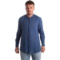 Oblačila Moški Srajce z dolgimi rokavi Antony Morato MMSL00547 FA400051 Modra