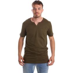 Oblačila Moški Majice s kratkimi rokavi Antony Morato MMKS01487 FA100139 Zelena