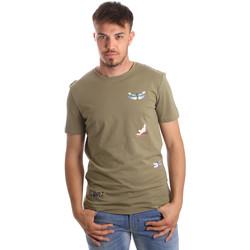 Oblačila Moški Majice s kratkimi rokavi Antony Morato MMKS01515 FA100144 Zelena