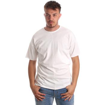 Oblačila Moški Majice s kratkimi rokavi Antony Morato MMKS01564 FA100189 Biely