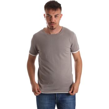 Oblačila Moški Majice s kratkimi rokavi Gaudi 911FU53007 Siva