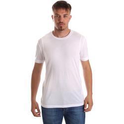 Oblačila Moški Majice s kratkimi rokavi Gaudi 911FU64005 Biely