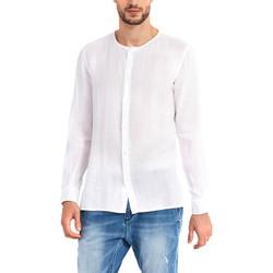 Oblačila Moški Srajce z dolgimi rokavi Gaudi 911BU45002 Biely