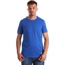 Oblačila Moški Majice s kratkimi rokavi Gaudi 911BU64023 Modra