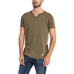 Oblačila Moški Majice s kratkimi rokavi Gaudi 911BU64024 Zelena