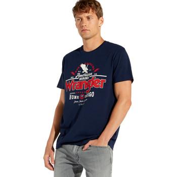 Oblačila Moški Majice s kratkimi rokavi Wrangler W7C08F Modra