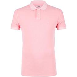 Oblačila Moški Polo majice kratki rokavi Wrangler W7C15K Roza