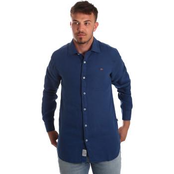Oblačila Moški Srajce z dolgimi rokavi Napapijri N0YIL7 Modra