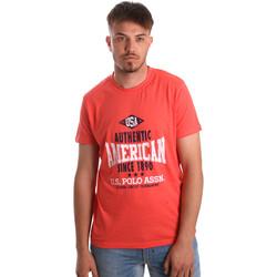 Oblačila Moški Majice s kratkimi rokavi U.S Polo Assn. 52231 51331 Oranžna