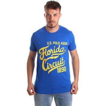 Oblačila Moški Majice s kratkimi rokavi U.S Polo Assn. 49351 51340 Modra