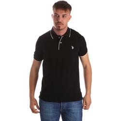 Oblačila Moški Polo majice kratki rokavi U.S Polo Assn. 50336 51263 Črna