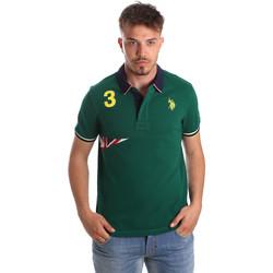 Oblačila Moški Polo majice kratki rokavi U.S Polo Assn. 41029 51252 Zelena