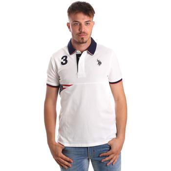 Oblačila Moški Polo majice kratki rokavi U.S Polo Assn. 41029 51252 Biely