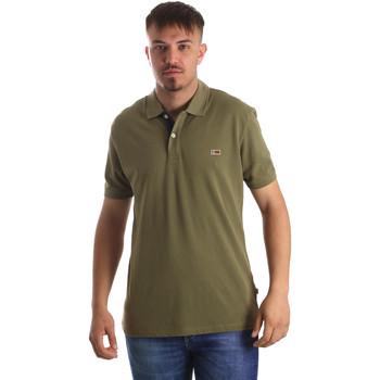 Oblačila Moški Polo majice kratki rokavi Napapijri N0YIJJ Zelena