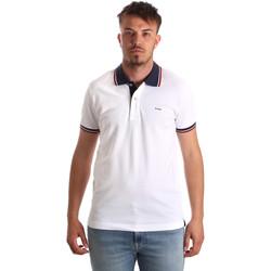 Oblačila Moški Polo majice kratki rokavi Key Up 2Q62G 0001 Biely