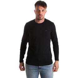 Oblačila Moški Majice z dolgimi rokavi Key Up 2E96B 0001 Črna