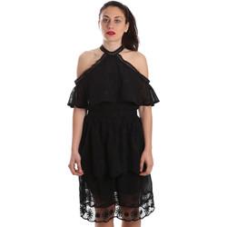 Oblačila Ženske Kratke obleke Fracomina FR19SP539 Črna
