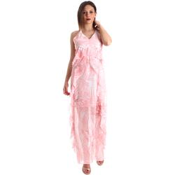Oblačila Ženske Dolge obleke Fracomina FR19SP429 Roza
