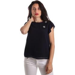 Oblačila Ženske Topi & Bluze Fracomina FR19SP567 Modra