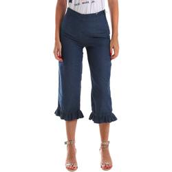 Oblačila Ženske Jeans 3/4 & 7/8 Fracomina FR19SM502 Modra