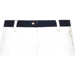 Oblačila Ženske Kratke hlače & Bermuda Ea7 Emporio Armani 3GTS02 TN29Z Biely