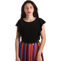 Oblačila Ženske Topi & Bluze NeroGiardini P962510D Črna