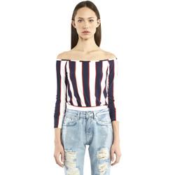 Oblačila Ženske Majice z dolgimi rokavi Denny Rose 911DD60016 Modra