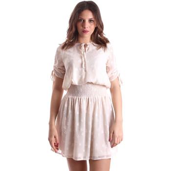 Oblačila Ženske Kratke obleke Gaudi 911BD15006 Bež