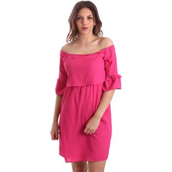 Oblačila Ženske Kratke obleke Gaudi 911BD15015 Roza