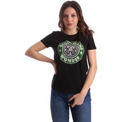 Oblačila Ženske Majice s kratkimi rokavi Gaudi 911BD64038 Črna