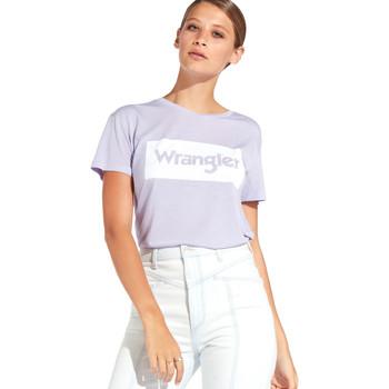 Oblačila Ženske Majice s kratkimi rokavi Wrangler W7016D Vijolična
