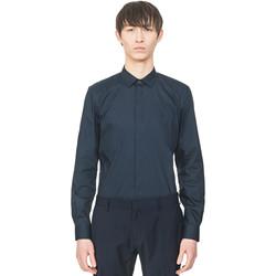 Oblačila Moški Srajce z dolgimi rokavi Antony Morato MMSL00293 FA450001 Modra