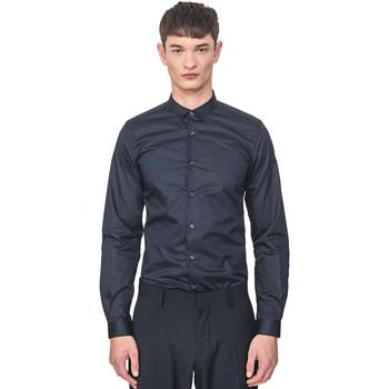 Oblačila Moški Srajce z dolgimi rokavi Antony Morato MMSL00596 FA400072 Modra