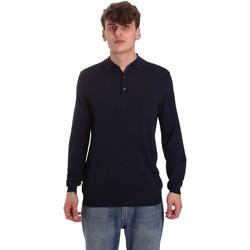 Oblačila Moški Polo majice dolgi rokavi Antony Morato MMSW01065 YA500057 Modra