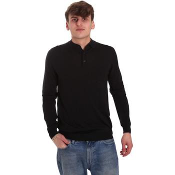 Oblačila Moški Polo majice dolgi rokavi Antony Morato MMSW01065 YA500057 Črna