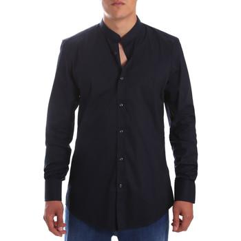 Oblačila Moški Srajce z dolgimi rokavi Antony Morato MMSL00376 FA450001 Modra