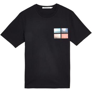 Oblačila Moški Majice s kratkimi rokavi Calvin Klein Jeans J30J312834 Črna