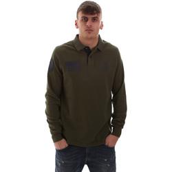 Oblačila Moški Polo majice dolgi rokavi U.S Polo Assn. 52416 47773 Zelena