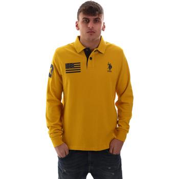 Oblačila Moški Polo majice dolgi rokavi U.S Polo Assn. 52416 47773 Rumena
