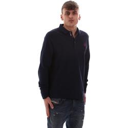 Oblačila Moški Polo majice dolgi rokavi U.S Polo Assn. 52415 47773 Modra