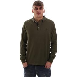 Oblačila Moški Polo majice dolgi rokavi U.S Polo Assn. 52415 47773 Zelena