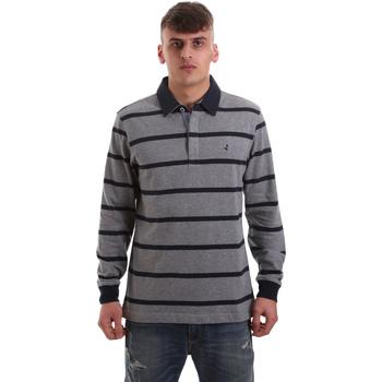 Oblačila Moški Polo majice dolgi rokavi Navigare NV30027 Siva