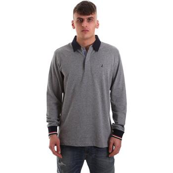 Oblačila Moški Polo majice dolgi rokavi Navigare NV32023 Siva