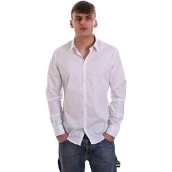 Oblačila Moški Srajce z dolgimi rokavi Gaudi 921FU45014 Biely