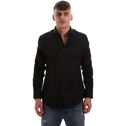 Oblačila Moški Srajce z dolgimi rokavi Gaudi 921BU45001 Črna