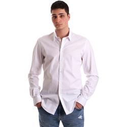 Oblačila Moški Srajce z dolgimi rokavi Gaudi 921BU45001 Biely