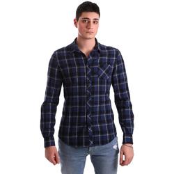 Oblačila Moški Srajce z dolgimi rokavi Gaudi 921BU45006 Modra