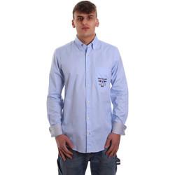 Oblačila Moški Srajce z dolgimi rokavi Navigare NV91061 BD Modra